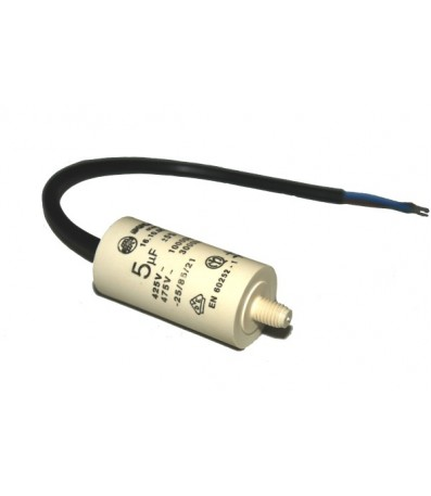 Cable End Motor Capacitor 5uF 450V