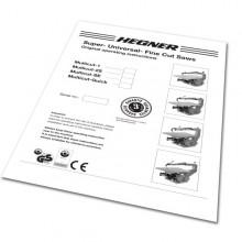 Hegner Fretsaw Instruction Manual